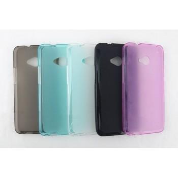 Силиконовый матовый полупрозрачный чехол для HTC One (M7) Dual SIM