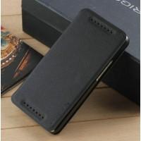 Чехол горизонтальная книжка подставка на пластиковой основе на присосках для HTC One (M7) Dual SIM Черный