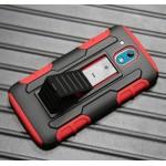 Противоударный двухкомпонентный силиконовый матовый непрозрачный чехол с поликарбонатными вставками, клипсой для ремня и встроенной ножкой-подставкой для HTC Desire 526