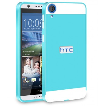 Двухкомпонентный чехол c металлическим бампером с поликарбонатной двухцветной накладкой для HTC Desire 820