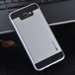 Противоударный двухкомпонентный силиконовый матовый непрозрачный чехол с поликарбонатными вставками экстрим защиты для Samsung Galaxy J5 Prime