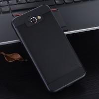 Противоударный двухкомпонентный силиконовый матовый непрозрачный чехол с поликарбонатными вставками экстрим защиты для Samsung Galaxy J5 Prime Черный
