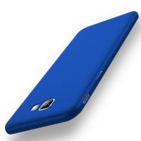 Пластиковый непрозрачный матовый чехол с улучшенной защитой элементов корпуса для Samsung Galaxy J5 Prime  Синий