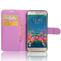 Чехол портмоне подставка на силиконовой основе на магнитной защелке для Samsung Galaxy J5 Prime  Фиолетовый