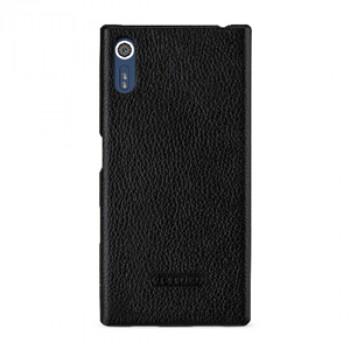 Кожаный чехол накладка (премиум нат. кожа) для Sony Xperia XZ
