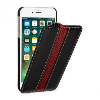 Кожаный чехол вертикальная книжка (2 вида премиум нат. кожи) для Iphone 7 Plus