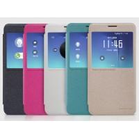 Чехол горизонтальная книжка на пластиковой нескользящей премиум основе с окном вызова для Samsung Galaxy Note 5