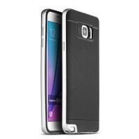 Двухкомпонентный силиконовый матовый непрозрачный чехол с поликарбонатным бампером для Samsung Galaxy Note 5