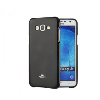 Силиконовый глянцевый непрозрачный чехол для Samsung Galaxy J7