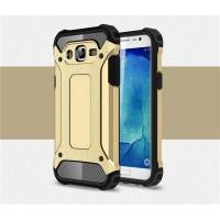 Противоударный двухкомпонентный силиконовый матовый непрозрачный чехол с поликарбонатными вставками экстрим защиты для Samsung Galaxy J7