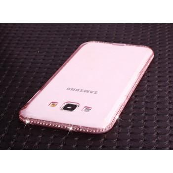Силиконовый матовый полупрозрачный чехол с аппликацией ручной работы для Samsung Galaxy J7