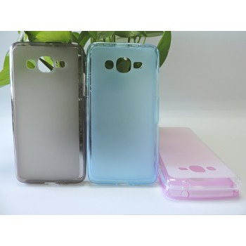 Силиконовый матовый полупрозрачный чехол для Samsung Galaxy J2 Prime