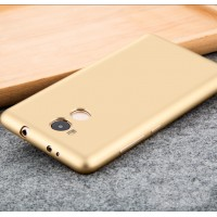 Силиконовый матовый непрозрачный чехол для Xiaomi RedMi 4 Pro  Бежевый