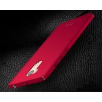Пластиковый непрозрачный матовый чехол для Xiaomi RedMi 4 Pro  Красный