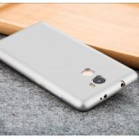 Силиконовый матовый непрозрачный чехол для Xiaomi RedMi 4  Белый
