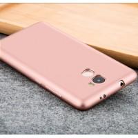Силиконовый матовый непрозрачный чехол для Xiaomi RedMi 4  Розовый