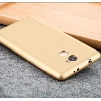 Силиконовый матовый непрозрачный чехол для Xiaomi RedMi 4  Бежевый
