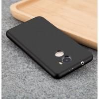 Силиконовый матовый непрозрачный чехол для Xiaomi RedMi 4  Черный