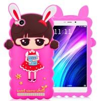 Силиконовый матовый непрозрачный дизайнерский фигурный чехол для Xiaomi RedMi 4A  Пурпурный