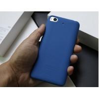 Силиконовый матовый непрозрачный чехол с нескользящим софт-тач покрытием для Xiaomi Mi5S Синий