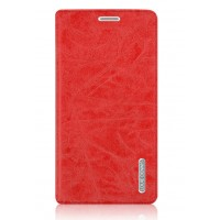 Винтажный чехол горизонтальная книжка подставка на пластиковой основе с отсеком для карт на присосках для Xiaomi Mi5S Красный