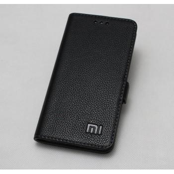 Кожаный чехол горизонтальная книжка (премиум нат. кожа) с крепежной застежкой для Xiaomi Mi5S