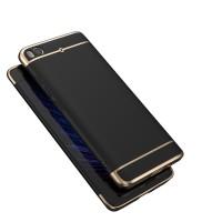 Пластиковый непрозрачный матовый металлик чехол с улучшенной защитой элементов корпуса для Xiaomi Mi5S  Черный