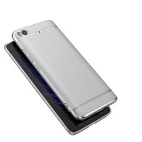 Пластиковый непрозрачный матовый металлик чехол с улучшенной защитой элементов корпуса для Xiaomi Mi5S  Белый