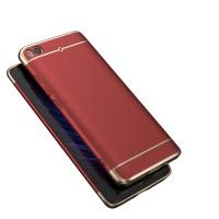 Пластиковый непрозрачный матовый металлик чехол с улучшенной защитой элементов корпуса для Xiaomi Mi5S  Красный