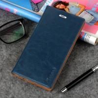 Вощеный чехол горизонтальная книжка подставка на силиконовой основе с отсеком для карт для Xiaomi Mi5S Plus Синий