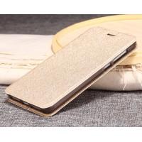 Чехол горизонтальная книжка подставка текстура Золото на силиконовой основе для Xiaomi Mi5S Plus