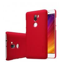 Пластиковый непрозрачный матовый нескользящий премиум чехол для Xiaomi Mi5S Plus Красный