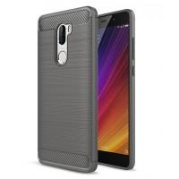 Силиконовый матовый непрозрачный чехол для Xiaomi Mi5S Plus Серый
