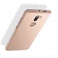 Пластиковый непрозрачный матовый чехол с улучшенной защитой элементов корпуса для Xiaomi Mi5S Plus  Розовый
