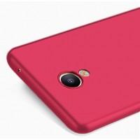 Силиконовый матовый непрозрачный чехол для Meizu M3E  Красный