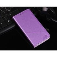 Чехол горизонтальная книжка подставка текстура Линии на пластиковой основе с отсеком для карт для Meizu U10  Фиолетовый