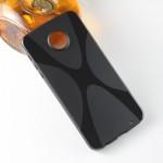 Силиконовый матовый полупрозрачный чехол с дизайнерской текстурой X для Lenovo Moto Z Play