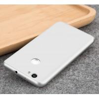 Силиконовый матовый непрозрачный чехол для Huawei Nova  Белый