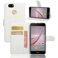 Чехол портмоне подставка на силиконовой основе на магнитной защелке для Huawei Nova  Белый