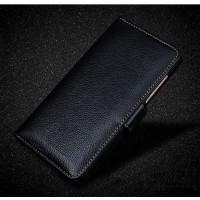 Кожаный чехол портмоне подставка (премиум нат. кожа) с крепежной застежкой для Lenovo Moto Z Play