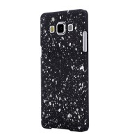 Пластиковый непрозрачный матовый чехол с голографическим принтом Звезды для Samsung Galaxy A7