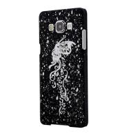 Пластиковый непрозрачный матовый чехол с голографическим принтом Бабочка для Samsung Galaxy A7
