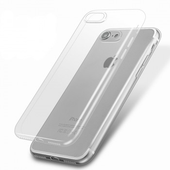 Силиконовый матовый транспарентный чехол для Iphone 7