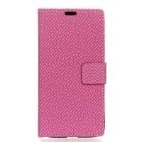 Чехол портмоне подставка на силиконовой основе текстура Кирпичи на магнитной защелке для Meizu U20 Розовый
