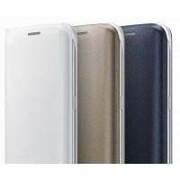 Кожаный чехол горизонтальная книжка на пластиковой основе с отсеком для карт для Samsung Galaxy S7