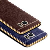 Силиконовый непрозрачный чехол с текстурным покрытием Кожа для Samsung Galaxy S7