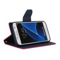 Чехол портмоне подставка на силиконовой основе на дизайнерской магнитной защелке для Samsung Galaxy S7