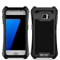 Антиударный пылевлагозащищенный гибридный премиум чехол силикон/металл/закаленное стекло для Samsung Galaxy S7