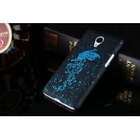 Пластиковый непрозрачный матовый чехол с голографическим принтом Бабочка для Meizu MX5