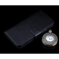 Кожаный чехол портмоне подставка (премиум нат. кожа) с крепежной застежкой для Lenovo K6